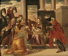 El Greco - Adoración de los Reyes Magos (The Adoration of the Kings), 1568-1569.  Museo Soumaya, México.