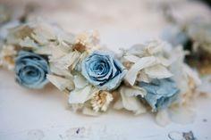 Flores naturales para adornar el cabello de la novia o niña porta anillos
