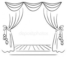 Theater Drawing,Theater Drawing at PaintingValley. Free Vector Images, Vector Free, Curtain Drawing, Stage Curtains, Perspective Sketch, Thumbnail Sketches, Drawing Lessons For Kids, Theatre Stage, Roman Theatre