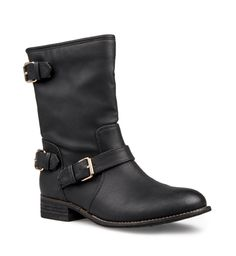 Step out with biker-inspired attitude in these zip-up boots.