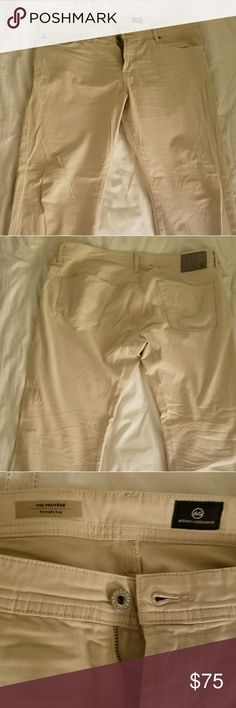 AG (Adriano Goldschmied) Pants - The Protege AG (Adriano Goldschmied) Pants - The Protege 38x32 (tag reads 34' length, but they are hemmed to 32' length), color is bone, 5 pocket flat front style. AG Adriano Goldschmied Pants Chinos & Khakis