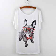 Cute Pug With Glasses Top
