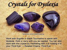 Crystals for dyslexia