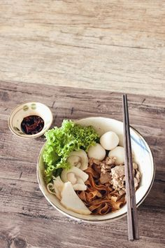 Mee Pok Tah, Dried Fish Ball Noodles — a hearty homemade version of the popular Singapore hawker dish