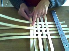Basket Weaving Video #3 Weave a basic square or rectangular basket base