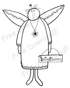 Free Angel Pattern and more.  Patterns for wood and fabric, you name it!
