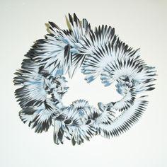 Yolande Duchateau - feathers 2013 - necklace