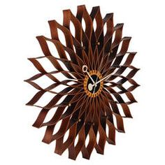 Vintage Sunflower Wall Clock by George Nelson for Howard Miller