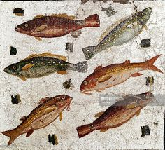 pictures of italian mosaics of fish | ... . Fishes. Mosaic, 1st century BC…