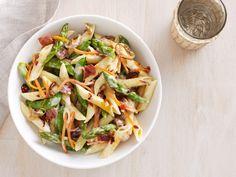Pasta Primavera: To create this seasonal pasta dish, combine garden-fresh veggies with noodles, crispy prosciutto and a touch of cream. #RecipeOfTheDay
