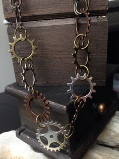 Trendy Steampunk Gear Statement Jewelry by ArcanumByAerrowae