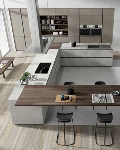 87 modern kitchen ideas and decorations for kitchen design Luxury Kitchens Decorations Design Ideas Kitchen Modern Kitchen Room Design, Luxury Kitchen Design, Kitchen Cabinet Design, Luxury Kitchens, Home Decor Kitchen, Modern House Design, Interior Design Kitchen, Home Kitchens, Kitchen Modern