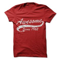 Awesome since 1962 T Shirts, Hoodies. Check price ==► https://www.sunfrog.com//Awesome-since-1962.html?41382 $19
