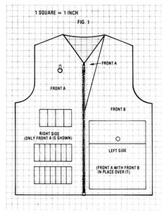 A Double-Fronted Hunting Vest Pattern and Sewing