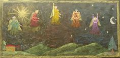 Chalkboard Drawings, Chalk Drawings, Singing, 1 Year, Angels, Drawings, Letters, Learning To Write