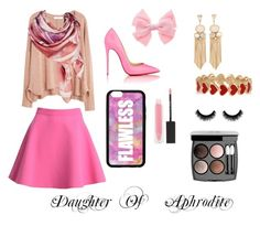 """""""Daughter of Aphrodite"""" by rainbowsauce on Polyvore featuring MANGO, MSGM, Christian Louboutin, Alison Lou, MAKE UP STORE, Chanel and Forever 21"""