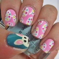Adorable Easter Nail Art - Learn from the best at http://bit.ly/1prqQuK