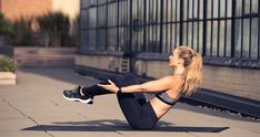 Ab-Toning Exercise Moves to Do While Watching Netflix: At the most, all you'll need is a towel and a mat. At the least, well, you won't even have to get off the floor. Our kind of workout. | coveteur.com