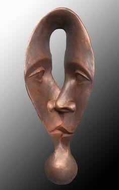 Michael Alfano esculturas de corpos rostos surreais bronze cobre Wow