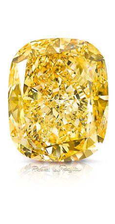 "Fancy Vivid Yellow Diamond ""The Golden Empress"" by Graff"