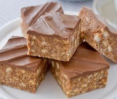 Marshmallow Slice: Another NESTLÉ Sweetened Condensed Milk recipe from our 100 years of Sweet Baking Memories Book. A delicious chewy slice - so easy and tasty, with no cooking required, the kids can make it - and they'll love it in their lunch boxes for an occasional treat. http://www.bakers-corner.com.au/recipes/slices/marshmallow-slice/