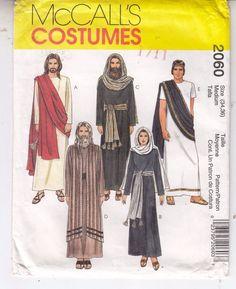 McCalls 2060 Nativity Costumes Passion Play Sewing Pattern Uncut Medium 34-36 #McCalls