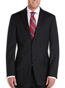 Tommy Hilfiger Black Multistripe Slim Fit Suit