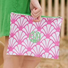 Monogrammed Shelly Zip Pouch