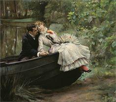 Julius LeBlanc Stewart - Un abrazo romántico.  ca.  1890-1895