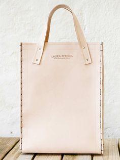 bolsa sacola couro natural rosa feita artesanalmente