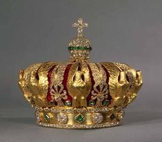 Crown of Empress Eugénie de Montijo, the Empress consort of Emperor Napoleon III of A part of French crown jewel kept in Louvre Museum, Paris. Royal Crown Jewels, Royal Crowns, Royal Tiaras, Royal Jewelry, Tiaras And Crowns, Jewellery, Louvre Paris, Imperial Crown, Second Empire