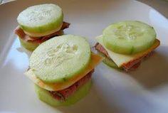 Zaggora healthy veggie recipes -  cucumber sandwiches. Do hummus instead of cheese!
