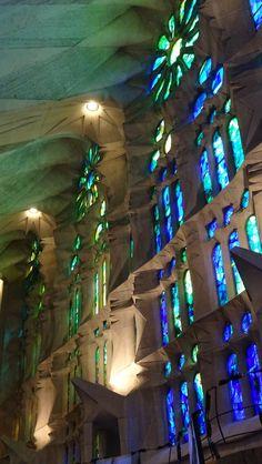 Interior de la Sagrada Familia, Barcelona,  Catalonia