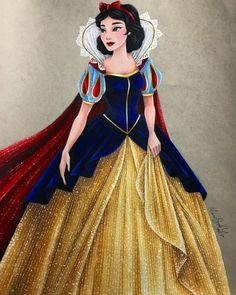"""Make a wish into the well, that's all you have to do, and if you hear it echoing, your wish will soon come true."" Shanghai Snow White is finished and I had such a fun time coloring her dress this time around. As you can see I changed the sparkle..."