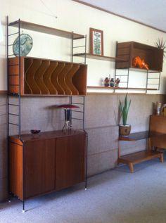 Vintage Retro Modular Wall Shelving System Danish/Ladderax Style Kurrlson Ind.