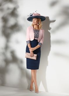 Short dress with gently tiered skirt and embroidered bodice. The outfit is completed by waist length collarless bolero jacket with matching embroidery on the cuffs. Mother Of Bride Outfits, Mother Of The Bride, Groom Outfit, Groom Dress, Glamorous Dresses, Beautiful Dresses, Dress Outfits, Fashion Dresses, Jacket Dress