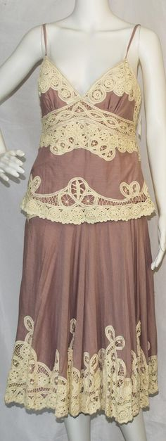 945ab6928aaaf1 Temperley London Pink / Cream Knee Length Night Out Dress Size 6 (S) 84%  off retail