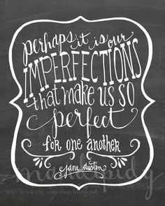Perfect For Each Other - Jane Austen Quote - Vintage Chalkboard Typography by Mandipidy