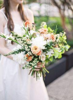 Bouquet in Peach and Green | www.weddingsite.co.uk