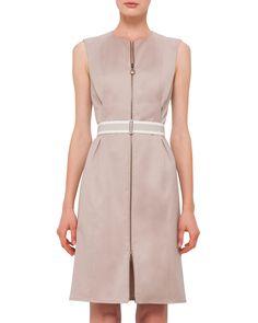 bd6c74e8ad Akris punto Sleeveless Stretch-Cotton Zip-Front Dress. Zip Front DressBergdorf  GoodmanNordstrom ...