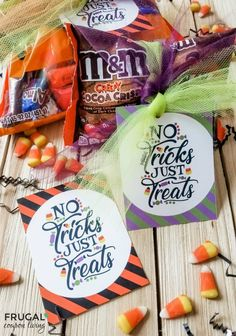 No Tricks, Just Treats Halloween Gift Tags free printables. These super cute Halloween gift tags make a perfect