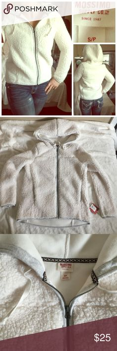 Mossimo Supply Co faux Sherpa hood jacket Brand new with tags. Perfect Christmas gift, super soft and warm. 100% polyester Mossimo Supply Co. Jackets & Coats