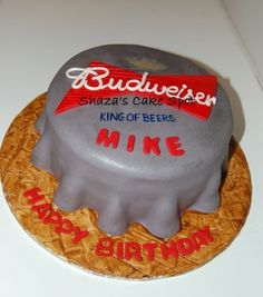 Budweiser Cake By Shaza25 on CakeCentral.com