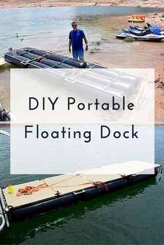 DIY Portable Floating Dock  #KeeKlamp #DIY #dock