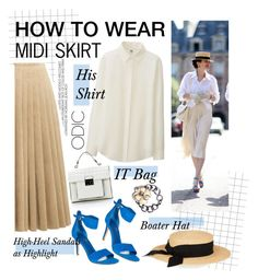 """""""How to Wear: Midi Skirt"""" by asya-1 ❤ liked on Polyvore featuring Acne Studios, Uniqlo, Eugenia Kim, Ivanka Trump and Chanel"""