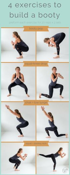 4 exercises to build a booty -- pin this butt workout -- www.nourishmovelove.com