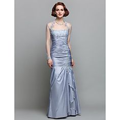 TrumpetMermaid Floor-length Taffeta Mother of the Bride Dress 605580 $139.99 AT vintagedancer.com