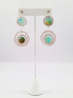 K by Design Ingenue Collection spring/summer 2013 #summer #spring #2013 #fashion #earrings #swarovski #oceanblueagate #agate #blue #silver