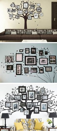 tree with pictures for your livingroom or bedroom