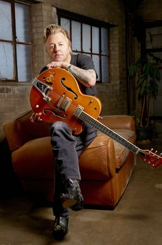 Brian Setzer, one of my all time favorite rockabilly guitar players. I would like to meet him!